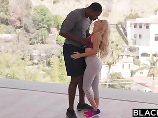 BLACKED Sugar Baby Fucks BBC While Daddy Is Out