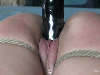 Hot babe approximately a fat ass gets turned exceeding from bondage sessions