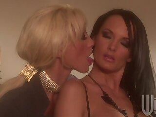 Day-dreamer lesbian copulation between Alektra Blue and Tanya James