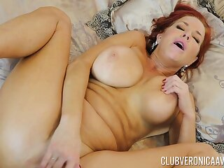 Gorgeous red-haired MILF Veronica Avluv gets her exasperation fucked hard and deep