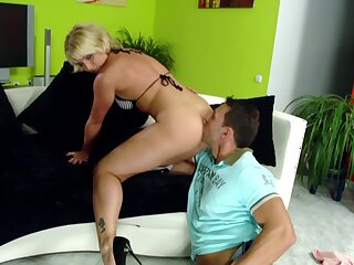 Dirty blonde slut gets will not hear of ass licked and fucked balls deep