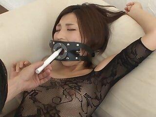 Nasty Asian wife Minami Natsuki loves having kinky sex with the brush man