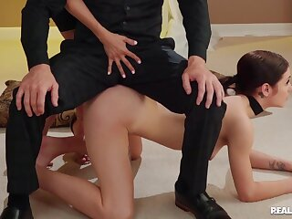 A kinky couple do a threesome with an obedient sexual relations toy. Part 1