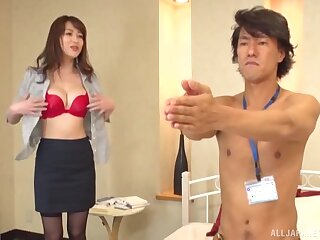 Outright boobs Asian hottie gets fucked generously by a handsome man