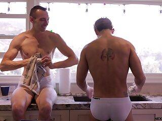 Ruffled well-pleased lovers share bareback XX shag on cam