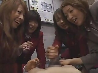 Asian teacher gets 3 schoolgirls to kick the bucket dick sph (censored)
