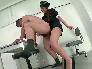 powers that be uniform femdom strapon handjob cumshot
